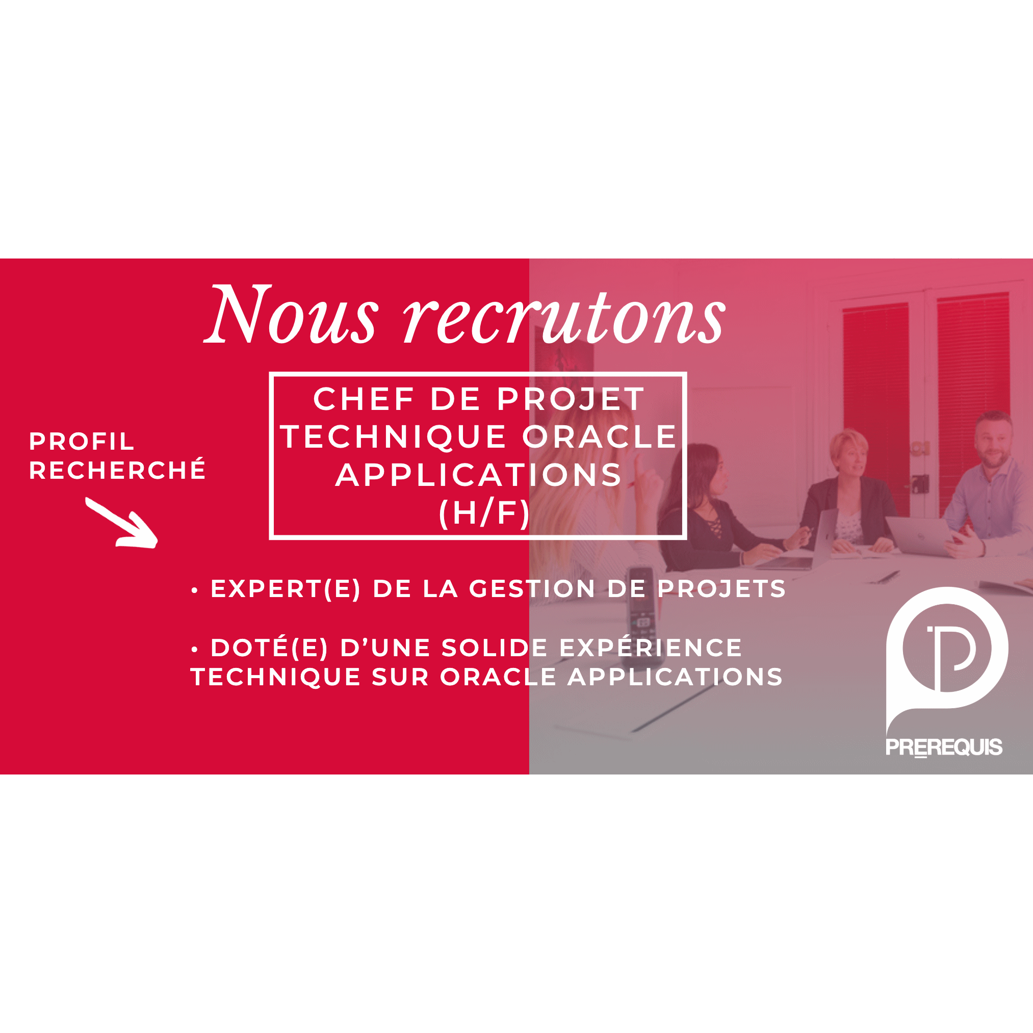 CHEF DE PROJET TECHNIQUE APPLICATIONS (H/F)