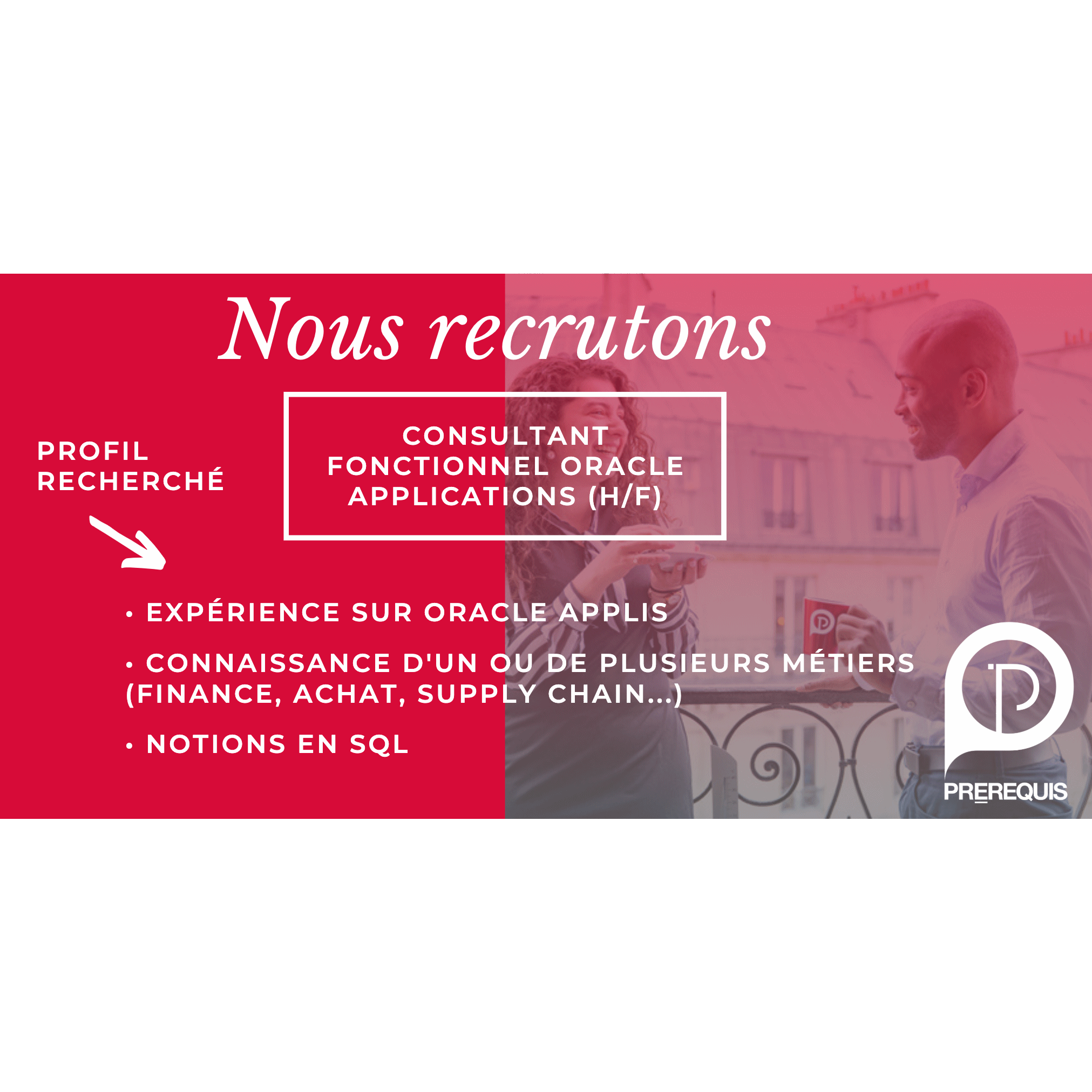 CONSULTANT FONCTIONNEL ORACLE APPLICATIONS (H/F)